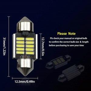 Image 5 - 2Pcs 3030 SMDแผนที่โดม 31 มม.ไฟLED 6500KสีขาวSMDรถDouble TIPอ่านโคมไฟหลอดไฟLEDสำหรับรถยนต์