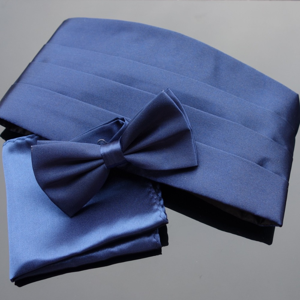 Ikepeibao Wedding Mens Cummerbund Sets Pocket Square Hanky Bowties Tuxedo Formal  Noeud Papillon Sash Wide Belts Ceremonial Belt
