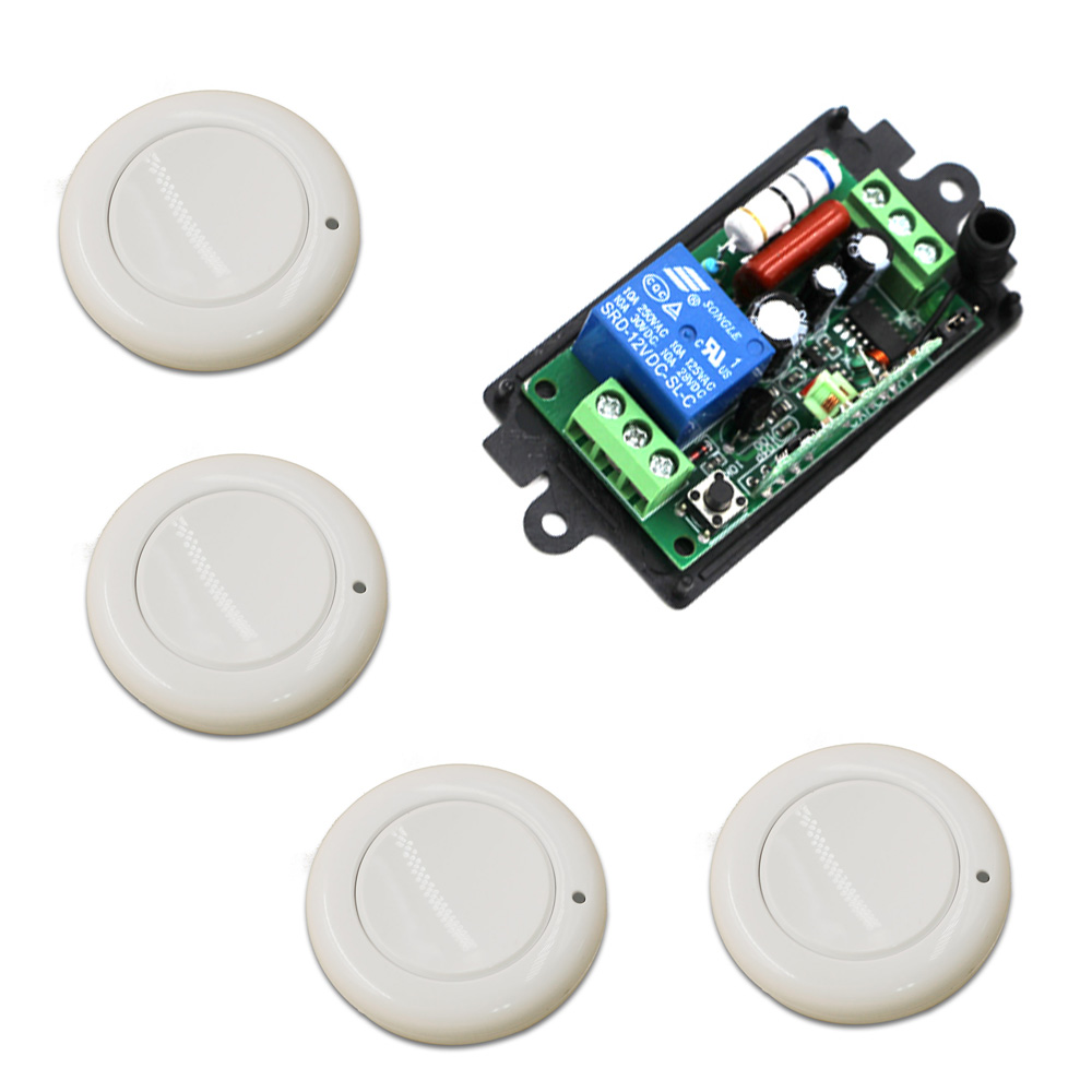 Ac 220 V 1ch 10a Relay Rf Wireless Remote Control Switch Hs Code Light Volts Receiver Transmitter