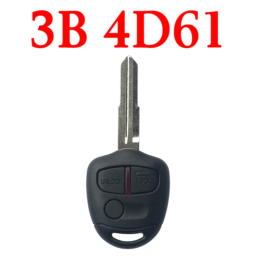 3 Buttons 434 MHz Remote Key For Mitsubishi MIT11 with 4D 61 Chip