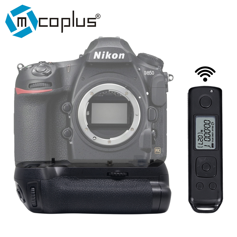 Mcoplus Meike MK D850 Pro Vertical Battery Grip with 2 4G Hz Wireless Remote Control for