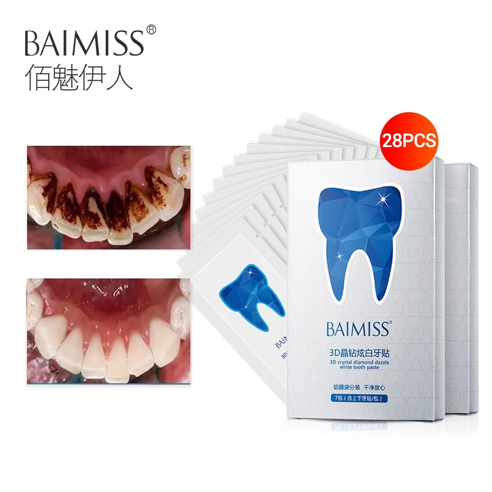 Baimiss Dentes Branqueamento Tiras De Gel De Clareamento Dental