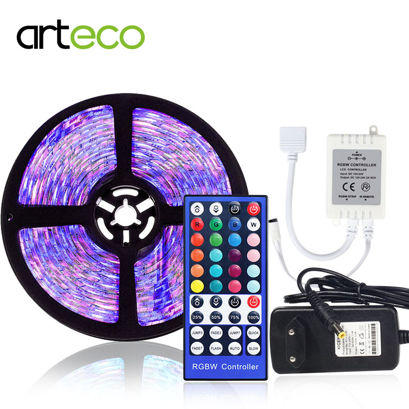 5050 LED strip RGB//RGBW 5M 300LEDs Color Changeable+Remote Controller+12V POWER