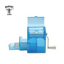 הורנט פלסטיק עשב מטחנת יד Crank מגרסה מטחנת עישון טבק קאטר מטחנות עם אחסון מקרה יד מילר