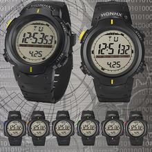 Hot New Fashion Fashion Men LED Backlight Week Date Alarm Stopwatch Digital Sports Wrist Watch
