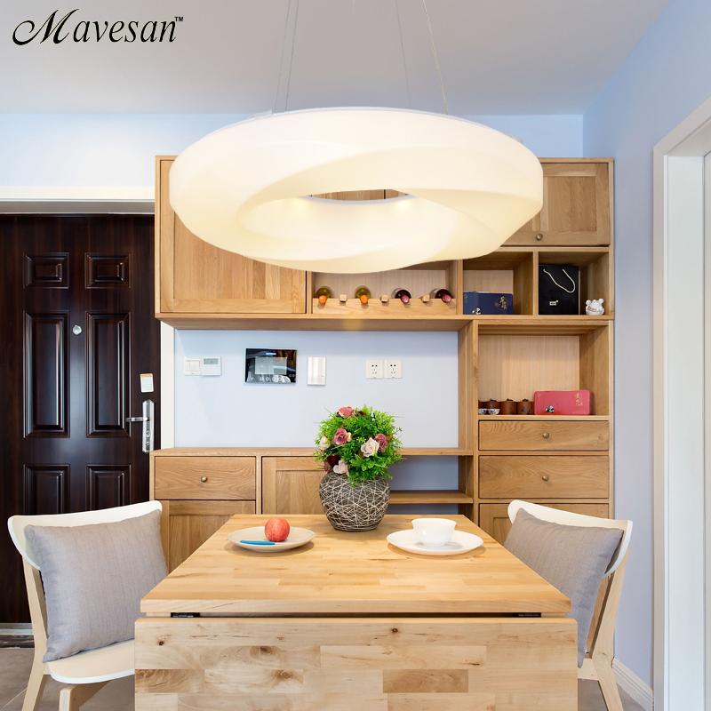 moderno led lmparas de techo para comedor de acrlico redondo del crculo colgante de control remoto de la lmpara led cocina c