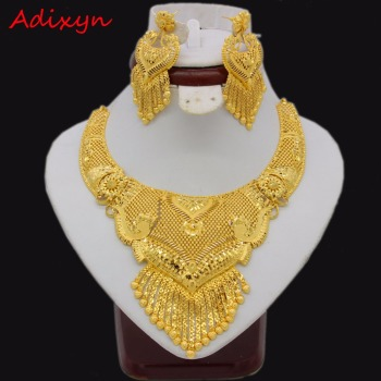 Adixyn Luxury Necklace/Earrings Jewelry Set