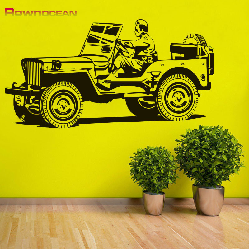 Europe Creative Home Decorations Off Road Vehicle Jeep Art Wall Stickers Vinyl Stickers Wall Stickers