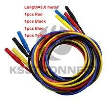 TL320 długość 2.0M wysokiej jakości 13AWG elastyczne silikonowe przewody pomiarowe 4mm prosta wtyczka na obu końcach