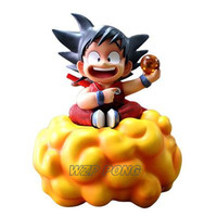 18cm Anime Dragon Ball Z Childhood Son Goku Somersault Cloud Figurine Dolls Toys PVC Action Figure Collectible Model Toy