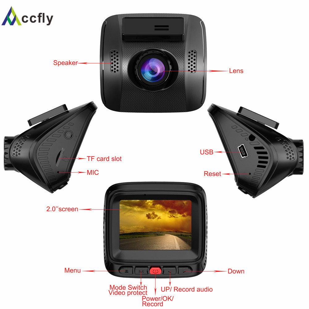 Accfly dash cam battery lantern lights