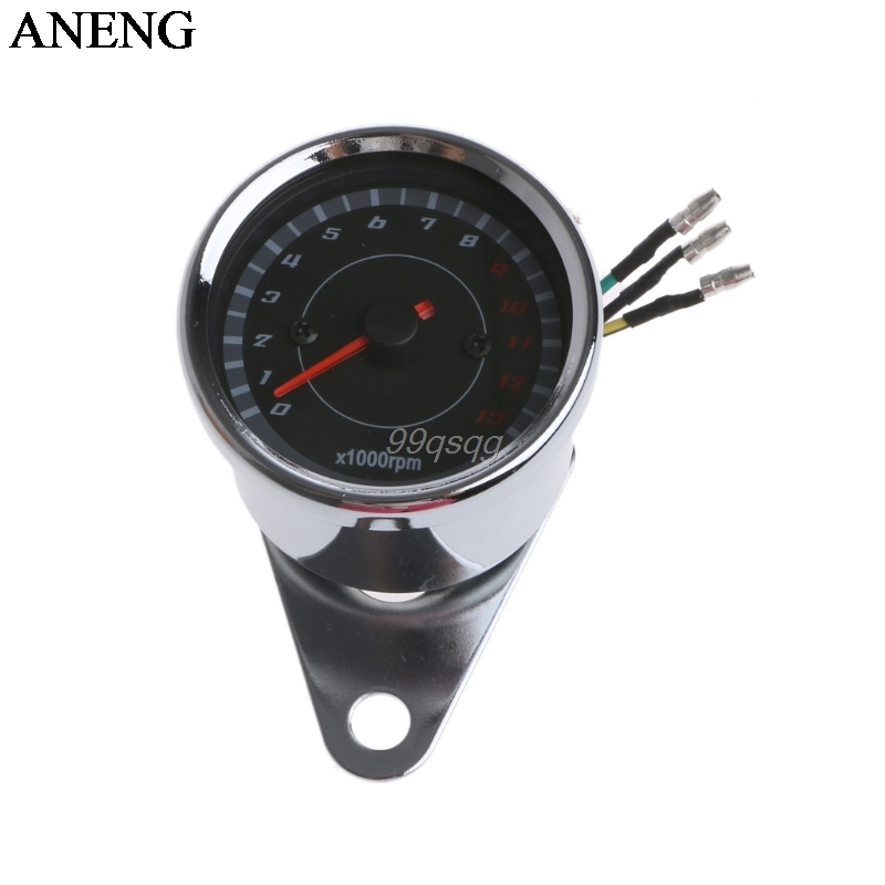Universal LED Motorcycle Tachometer DC 12V Meter 13K RPM For Honda Yamaha Suzuki Drop ship navien deluxe oaxial 13k