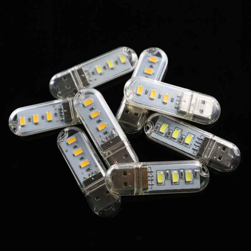 LATTUSO мини аварийная атмосфера USB светодиодный Ночной светильник 3 светодиода книжный светильник s 5 В для ПК ноутбука мобильного питания походная лампа
