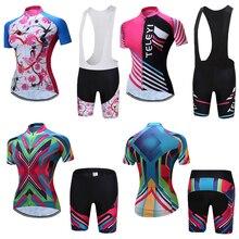 Женский Летний комбинезон с коротким рукавом, комплекты для велоспорта, одежда для шоссейного велосипеда, одежда для горного велосипеда, одежда для велоспорта, комплекты одежды для велоспорта