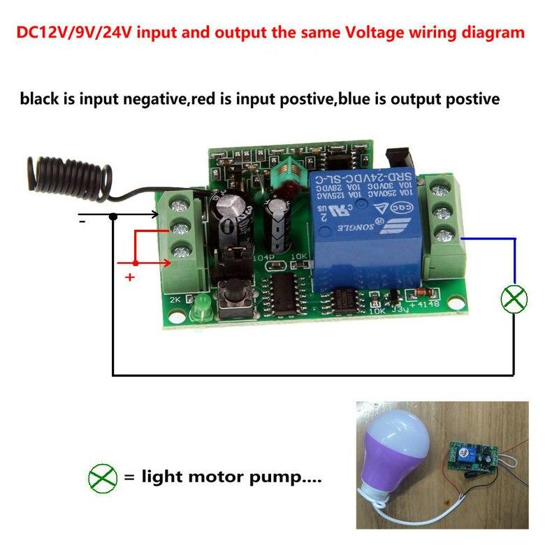 Image 3 - 2019 nowy 500 m DC 9 V 12 V 24 V 1 CH 1CH przełącznik bezprzewodowego pilota zdalnego sterowania systemu, 4CH nadajnik + odbiornik, Jog/Self lockPrzełączniki   -