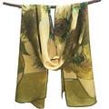 Girasoles 160x45 cm Wholesale 2017 Más Nuevo Bufandas de Seda, China crepe bufanda rectángulo digital pintura famosa bufanda
