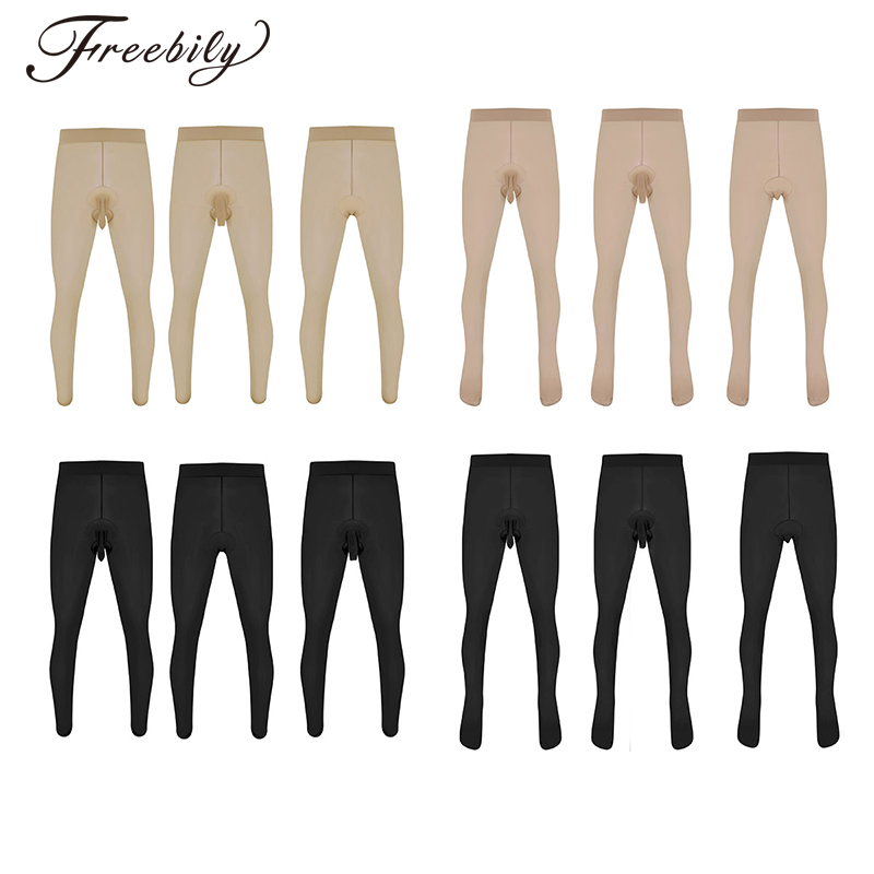 Mens Sexy Skinny Stretchy Pantyhose Tights Hosiery Seamless Lingerie Sissy G-string Thong Panties Underwear Underpants