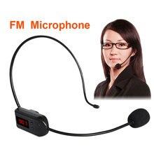 ชุดหูฟังไมโครโฟนไร้สาย FM วิทยุ Megaphone สำหรับลำโพงการประชุมการสอนวิทยุ MIC สำหรับทัวร์ท่องเที่ยว Salesman JUNKE MIC