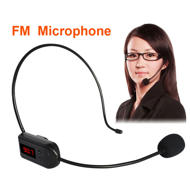 FM Wireless Microphone Headset Megaphone Radio Mic For Loudspeaker Teaching Meeting Radio Mic For Tour Guide Salesman JUNKE MIC