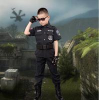 Children S Halloween Costumes Fantasia Disfraces Boys Police Costumes Kids Policeman Cosplay Game Uniforms
