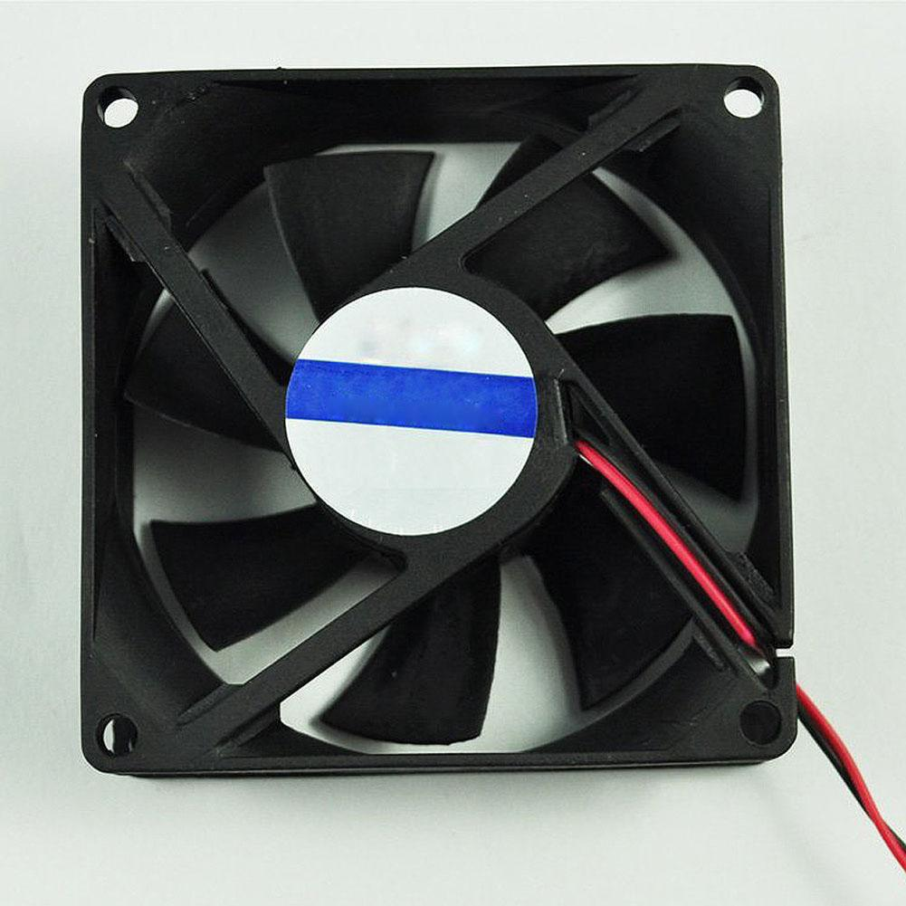DC <font><b>12V</b></font> Black <font><b>80mm</b></font> Square Plastic Cooling <font><b>Fan</b></font> for Computer <font><b>PC</b></font> Case CPU Cooler image