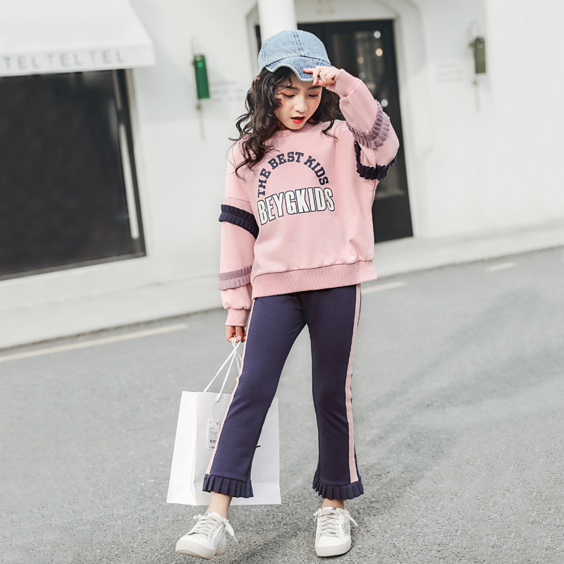 2019 Style Teenage Girls Clothes Spring 5 12year Children Cute Clothing Set Cotton Coat Pants 2 Piece Kids Fashion Sets Aliexpress