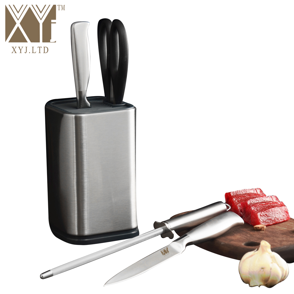 XYj 6 Inch Stainless Steel Knife Holder Kitchen Knife Stand Flexible Multifunctional Cooking Tools Knife Block Best Gift