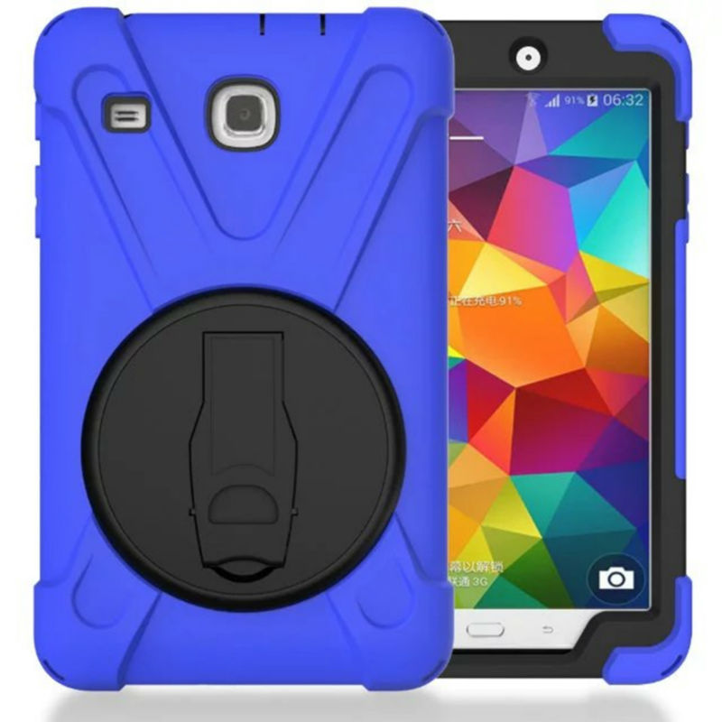 Tablet Case For Samsung Galaxy Tab E 80 T377 Heavy Duty Shockproof T377V Armor Silicon PC 8'' Stand Cases Protective Back Cover