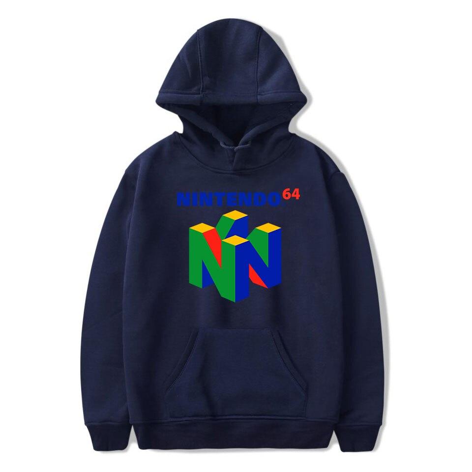 Image 4 - 2019 New Brand Classic Game N64 Printing Hooded Sweatshirt Harajuku Hoodies Large Size Pullover Clothing Hip Hop Streetwear-in Hoodies & Sweatshirts from Men's Clothing