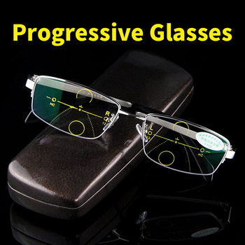 d149d21d3f Multi-progresivas gafas de lectura hombres Zoom inteligente asintóticamente  de alta calidad la presbicia hipermetropía hombre lentes bifocales