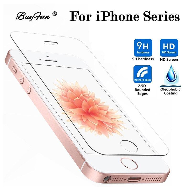 Verre de Protection sur le pour iPhone 5 S SE 5SE 5 4 S 4 S 5C verre trempé pour Apple S5 S4 Protection d'écran tremp Clear