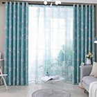 New Flower Print Curtains Window Screening Room Darkening Thermal Insulated Grommet Curtains Dropshipping FP8