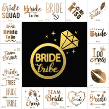 New 10pc Bridesmaid Team Temporary Tattoo Bachelorette Party Sticker Decoration Marriage Bride To Be Bridal Supplies