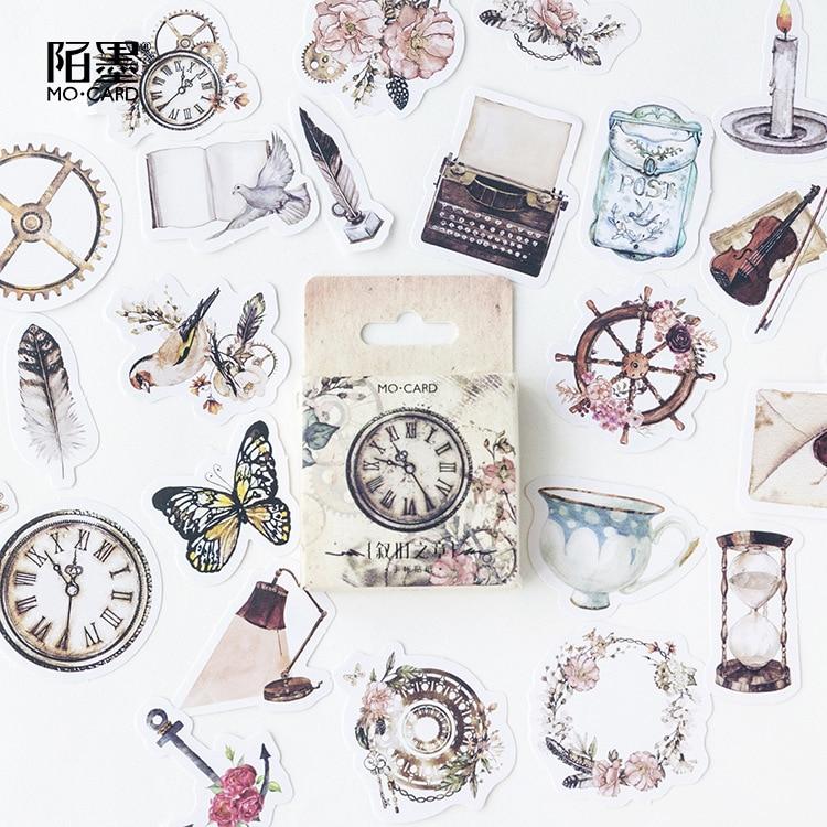 46 Pcs/lot Narrate Chapter Mini Stickers Set Decorative Stationery Stickers Scrapbooking DIY Diary Album Stick Lable