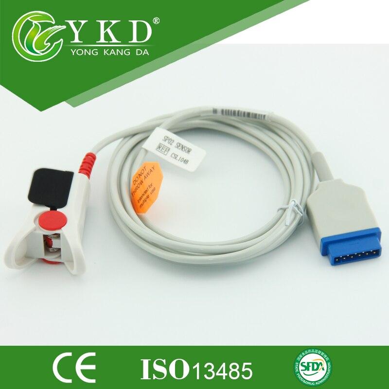 Compatible GE-Marqutte Adult finger clip spo2 sensor,Reusable medical sensor for module monitor