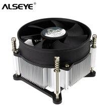 ALSEYE кулер для процессора TDP 95W охлаждение процессора с 90 мм 4-вольтовым вентилятором PWM 900-2400RPM для LGA 1155/1151/1151/1156