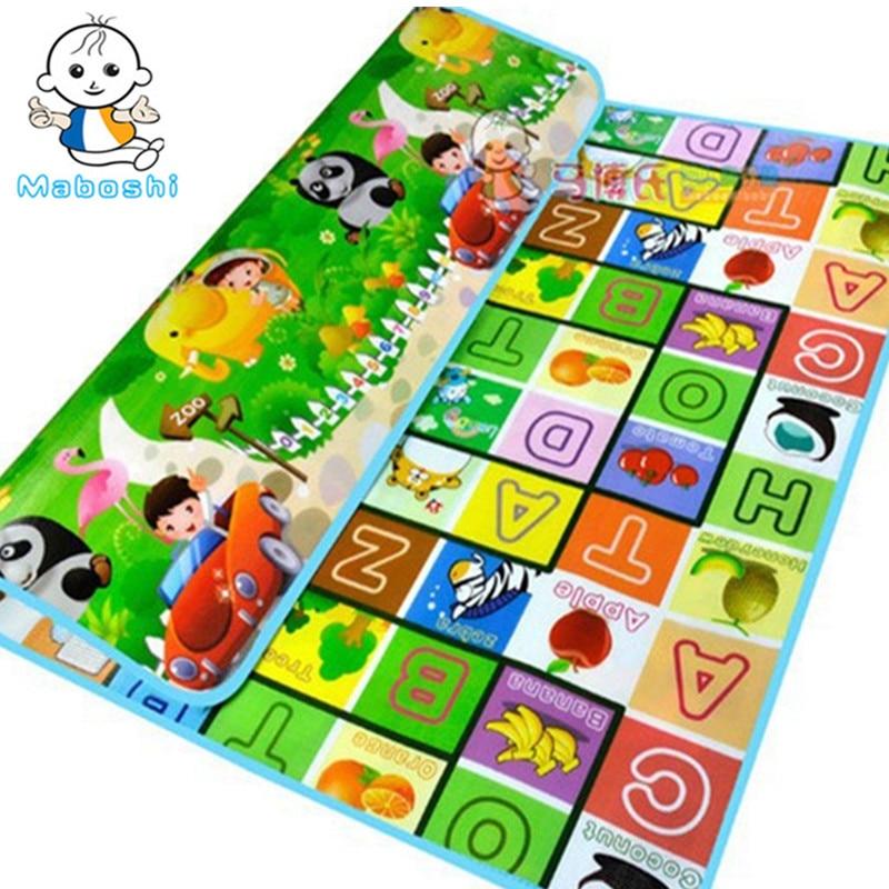 Maboshi Quality lapset pelaavat mat Fruit Letter Zoo Lapset Rantamatto Picnic Eva Vaahto Matot Vauvan vaellusmatto CM-016