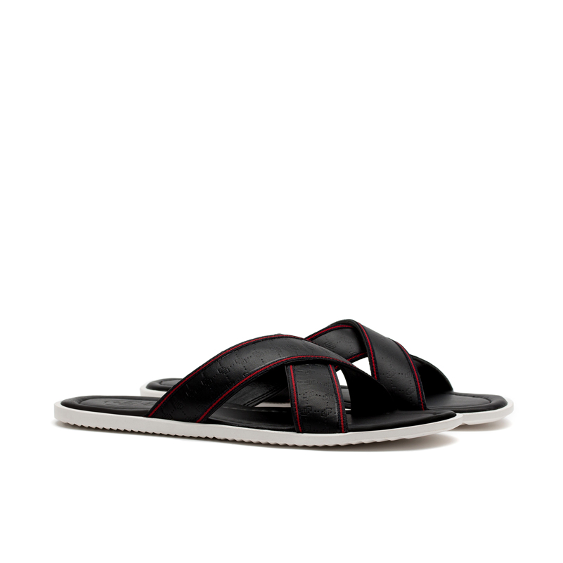 6d17001a6b74d7 OPP Men s Casual Slippers Flip Flops Leather Non skid Shower Comfortable  Beach Sandals Shoes Summer Flip Flops Shoes Man-in Slippers from Shoes on  ...