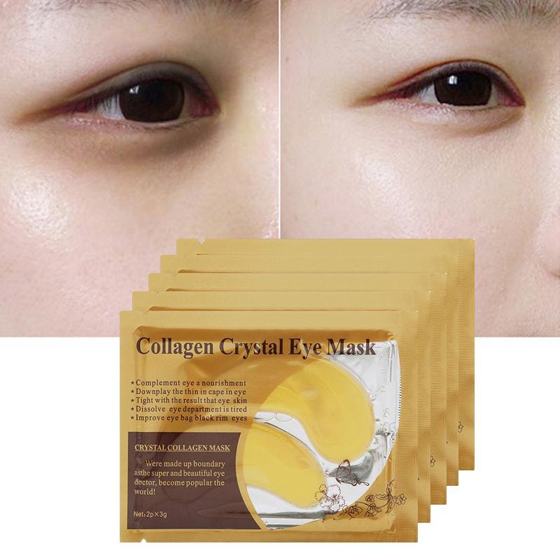1 par Anti-envelhecimento Colágeno Cristal Máscara de Olho Umidade Olho Removedor de Manchas Anti-Rugas Eye Patch