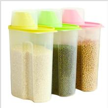 Rice Container Food Storage Box Kitchen Cereal Grain Cans Plastic Containers For