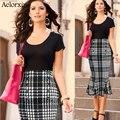 2017 del otoño del verano nuevo estilo de moda sexy falda mujeres Faldas Plus Size XL Cintura Alta Multi-botón de diseño de moda