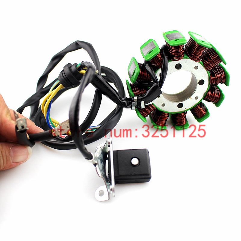 Motorcycle 5 Wire 12 Poles For Honda CG125 ZJ125 <font><b>CG</b></font> ZJ <font><b>125</b></font> 125cc Magneto Stator Coil Generator Spare <font><b>Parts</b></font> image