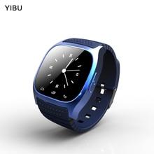 Беспроводной Bluetooth Smart часы Роскошные браслеты, SmartWatch с циферблатом SMS напомнить шагомер для андроид, руки-бесплатные звонки браслет