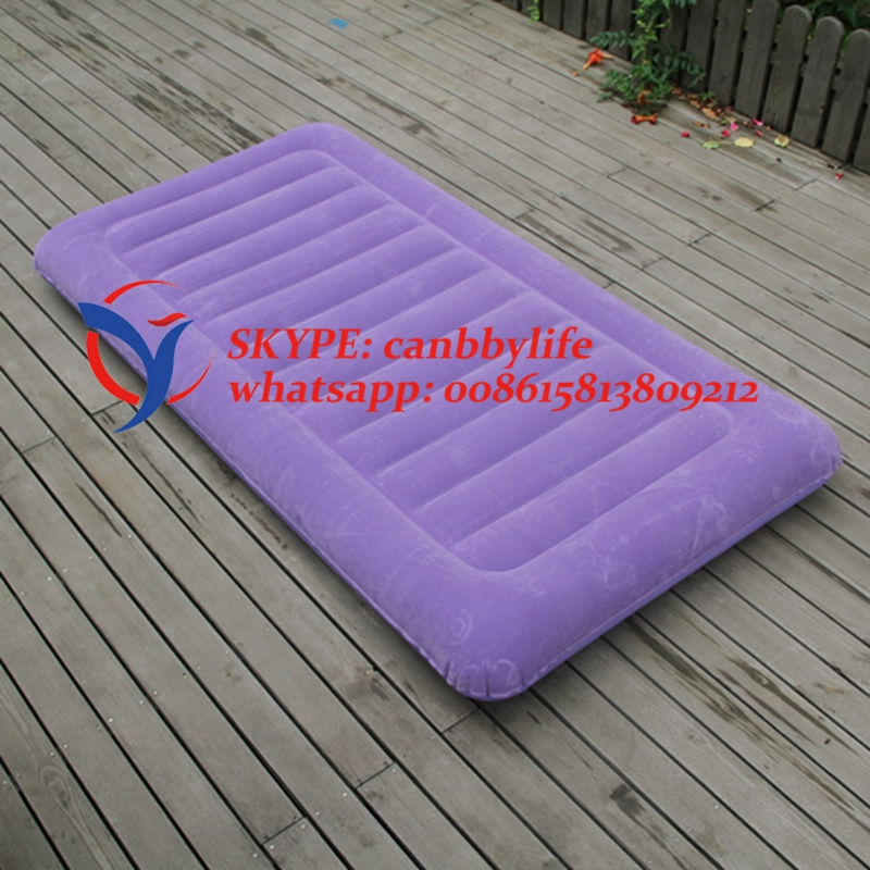 2017 new coming pillow top single size flocked air bed portable inflatable twin size bed Best twin size mattress
