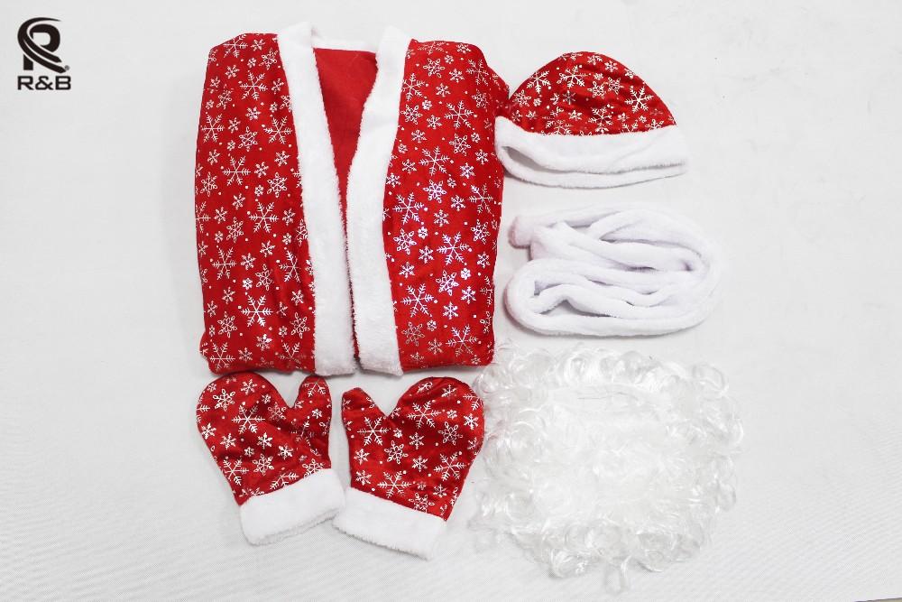 Россия рождество санта-клаус костюм косплей санта-клауса одежда fancy платье в рождество мужчины 5 шт. / лот костюм костюм для взрослых