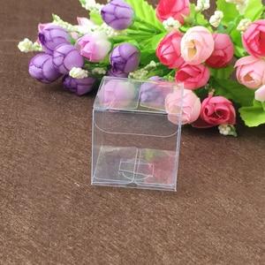 Image 4 - 200ピーススクエアプラスチックボックス収納pvcボックスクリア透明ボックス用ギフトボックスウェディング/ツール/食品/ジュエリー包装ディスプレイdiy