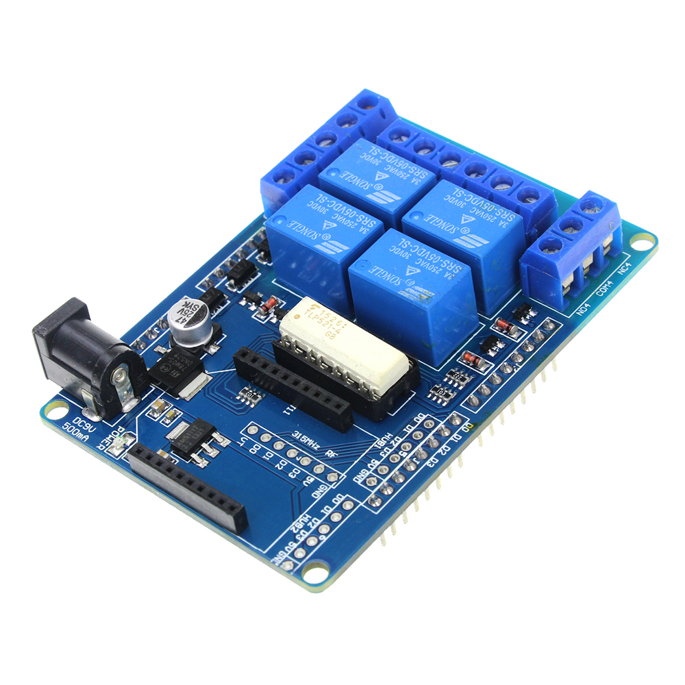 Smart Electronics 4 Channel 5V Relay Module Extension Board Relay Shield V1.3 for arduino Compatible with MEGA 2560 UNO tengying rtc direct extension compatible board for raspberry pi to arduino red