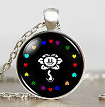 Undertale Flower Hearts Game Gaming Mens Handmade Fashion Necklace brass silver Pendant steampunk Jewelry womens new chain toy