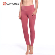 3832c22e1d8d8 Sport Leggings with Pocket Women Sexy High Waist Yoga Pant Push Up Slim Gym  Training Trousers Elastic Comfy Tight Shapewear
