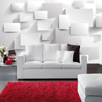 beibehang Embossed Cubic Abstract Photo Wallpapers 3D Large Wall Murals for Custom White Brick Background paper